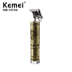 Keimei напролом Машинки для стрижки волос Масло Глава Carving Электрический триммер Тяжелая горькое Cordless Мужчины 0mm машинок для стрижки