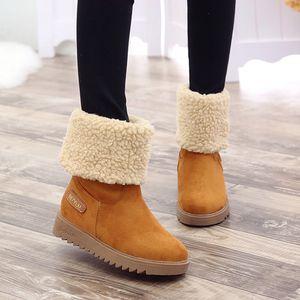 KANCOOLD Plus Size femmes Bottes hiver chaud en fausse fourrure Bottes de neige Femme Plate-forme 2019 Nouveau Bottines Chaussures pour femmes Chaussures