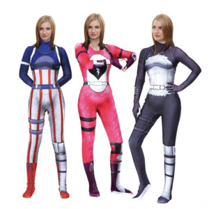 Night of Wansheng fortress Blue Pink Panda women's team leader Anime Costumes Costumes & Cosplay Cosplay BODYSUIT