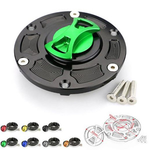 For Kawasaki EX250 Ninja 250 2008-2014 EX300 Ninja 300 2013-2017 CNC Totoricraft Fuel Tank Cap Gas Cap Cover Keyless