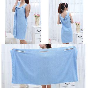 Toalla mágica toallas de baño de señora Girls toalla Ducha Body Wrap Albornoz Albornoz playa vestido usable mágica de 8 colores XD23251