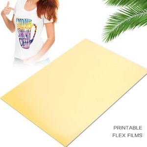 Impresión de la camiseta de papel del hierro en la luz de bricolaje papel fotográfico de inyección de tinta Impresoras Textiles Tejidos de Oro A4 creativo de Transferencia de Calor de papel