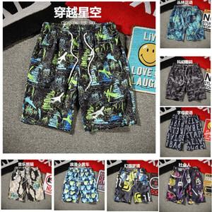 US Stock Мужские шорты для бега пляж короткие брюки принт длина до колен подросток мужской летний Спорт свободные повседневные открытые днища M-4XL FY9115