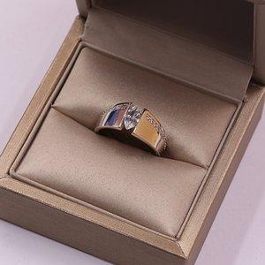 Bi-colored Love Infinity Rings For Women Men Silver Rose Gold Color White Zircon Geometric Promise Wedding engagement Ring