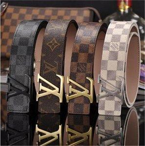 2020 homens e mulheres cinto de design de moda de luxo de couro cinto selvagem impressos verificados cinto de 3,8 centímetros da cintura