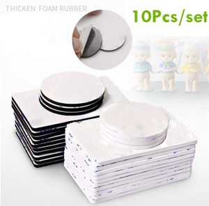 10pcs Double Sided Black Foam Tape Strong Square Car and Home Use Adhesives Multifunction Tape Accessories