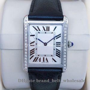 High Quality Women's Fashion Wristwatches Tank series VK Quartz Leather Strap Ladies Watch Women's Watches