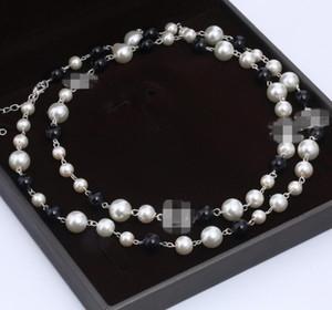 Letra doble cadena de perlas de la moda suéter de cumpleaños regalo de Navidad al052201 envío libre