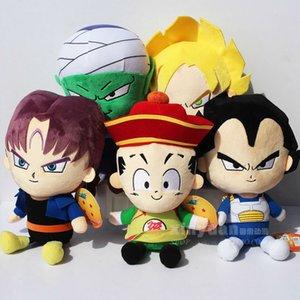 5 pcs set Dragon Ball Z Figures Plush Pendant Toy Super Saiyan Goku  Piccolo Trunks Figure Plush Doll Toys Free Shipping