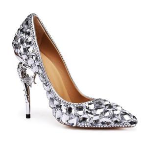 newest famous luxury bride rhinestone shoes shinny dimaond T show footwear glitter high heel party pumps sexy nightclub ladies wedding shoes