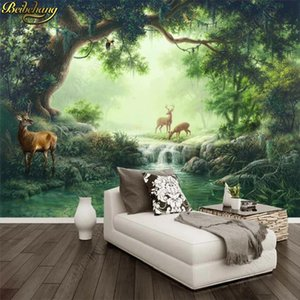 beibehang Custom Photo Wallpaper Mural Forest Elk Oil Painting Wall Background wall papers home decor papel de parede infantil