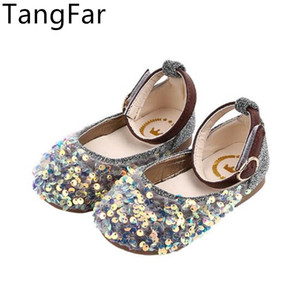 Девушки Cute Mary Jane Vintage Flats Детский / Toddler / Little Kid лакированный Paillette Детей ретро принцесса мод платье обувь