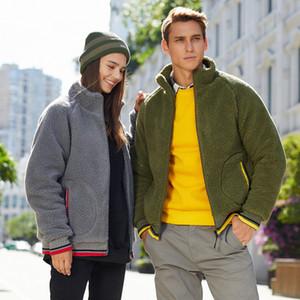 편안한 스웨터 실행 남성 패션 영국 스타일의 재킷 양고기 두꺼운 스웨터, 단순하고 슬림 한 연인의 따뜻한 지퍼 카디건 스포츠 및