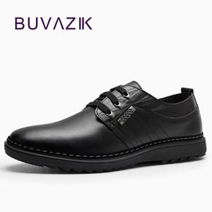 2017 новая мужская мода подлинных кожаные ботинок зашнуровать анти~d каблуков проскользнуть случайную обувь для мужского размера 39-44 Oxfords мужчин случайного