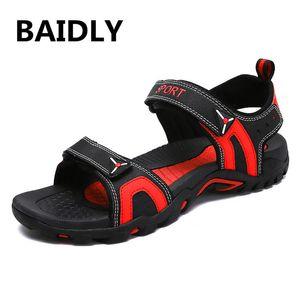 New Fashion Summer Beach Sandals Breathable Men Sandals Leather Men's Man Casual Shoes Plus Size
