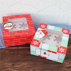 16 * 16 * 8cm bella Babbo Natale Confezione regalo per feste di Buon Natale Presente contenitore di regali di natale decorazioni Candy confezionamento per i bambini LX2439