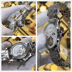 orologio da uomo 02Famous di marca, vigilanza di affari meccanico moda specchio di vetro zaffiro impermeabile