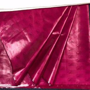 New Atiku guinea Brocade Fabric, Qualitäts-Bazin Riche 5Yards / pc fuchsia Farbe Brokat Spitze Bazin Riche