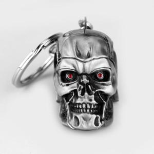 2020 Movie Terminator Keychain Cool 3D Shape Metal Keychain Keyring Alloy Metal Terror Skull Key Rings Gift