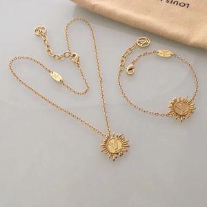 Collana Boemia nuova annata dichiarazione di moda sole gioielli a forma di fiore per Accessori di nozze donne ciondolo PS6123 libera il trasporto