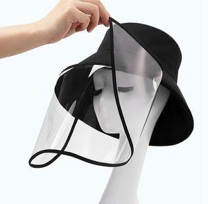 Pesca Cap del cappello della benna con facce Shield Proteggere antipolvere Saliva Spitting adatto per la pesca esterna della protezione di Viaggi 11 stili KKA7821
