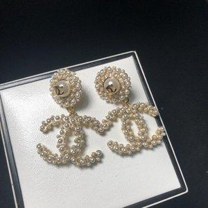 2019 designer di gioielli di lusso nuovi orecchini delle donne Nero lettera vite prigioniera del cerchio orecchini Druzy bijoux Boucles doreille de marque de luxe C-127