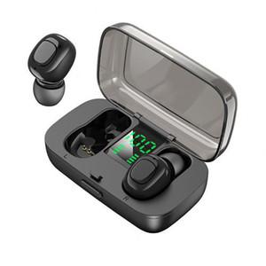 Casque stéréo sans fil Bluetooth TWS écouteurs intra-auriculaire sans fil vrai Oreillettes Mini Noise Cancelling Sport Casque avec affichage numérique LED