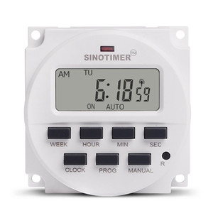 SINOTIMER 24V أسبوعي 7 أيام للبرمجة الرقمية وقت التبديل التقوية تحكم الموقت للأجهزة الكهربائية 8 إعداد / إيقاف