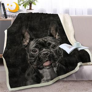 HM Life 3D Hund Sherpa Decke auf Beds Tierpelz werfen weiche Decke für Erwachsene Kinder Braun Grau Bettwäsche Warm Home Textile