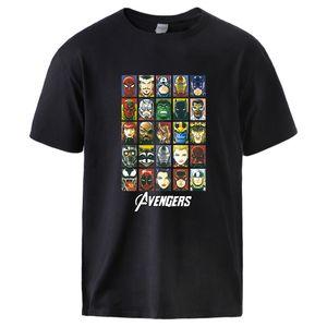 The Avengers Superhero T shirts Man Summer Cotton Tops Tee 2020 Fashion Super Hero Cartoon Print Short Sleeve Sportswear Tshirt