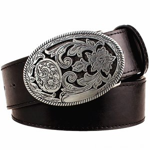 Retro womens belt Belts Belts & Accessories metal buckle weave Arabesque pattern leather belts jeans trend punk rock strap decoration belt g