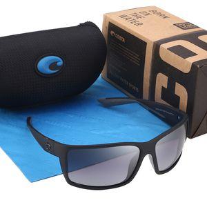 580P place Vintage lunettes de soleil polarisées Reefton Costa conduite Lunettes de soleil Marque Outdoor Sport Sunglases Hommes Lunettes Homme Oculos UV400