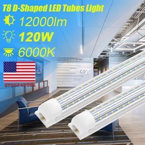 CNSUNWAY, D-Shaped Integrate T8 LED Tube 4 8 Feet LED Fluorescent Lamp 120W 8ft 3rows LED Light Tubes Cooler Door Lighting