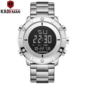 Kademan New Fashion Designer Militar Homens do relógio de pulso de luxo TOP Marca Dual Display LCD K9151 Relogio Masculino LY191226