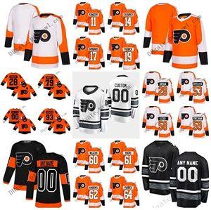 Stade All Star Series 799 79 Carter Hart Claude Giroux Flyers de Philadelphie Shayne Gostisbehere Couturier Simmonds Voracek Maillot de Hockey