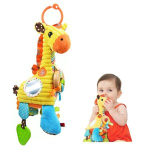 [Funny] Baby toy 100% Safe material Giraffe plush doll Pull bell Multifunctional Bed Hanging appease Educational Teether food