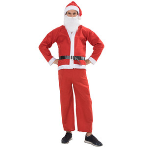 New Arrival Adult Santa Claus Christmas Carnivals Fancy Dress Cosplay Costume