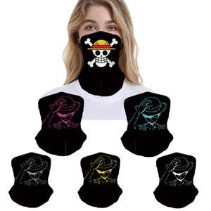 20pcs designer masques de luxe de la mode d'équitation d'été pour adultes masque un seul morceau masque jeu anime protection anti-poussière créatif