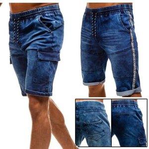 Pantalones cortos CottonThin dril de algodón con pliegues MarchWind marca de diseño de los hombres de la nueva manera de Verano Casual Male bajo la cintura los pantalones vaqueros cortos del cortocircuito de estiramiento de las bragas