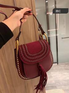 Freeship Women Ysiykiy Genuine Pelle pelle scamosciata Stelle con borse a tracolla in nappa rivetti Borsa casual moda