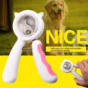 Dosya Non Slip ile Makine Karşıtı Splash Ergonomik Ayak tırnağı Giyotin Pet Nail Clipper Kesme Keskin Traş Bıçağı Köpek Kedi Bakım