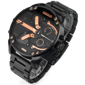 Higt kalite askeri montres mens yeni reloj 55mm büyük arama ekran dizel saatler dzW izle