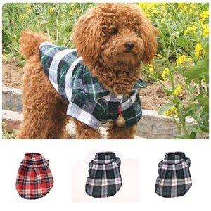 Красивый питомец собачка футболка модные решетки печатных маленькие кошки щенок с короткими рукавами одежда для животных новейшие стили 4 2yb E1