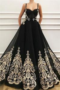 Черное золото-Line Свадебные платья с ремешками Женщины Non Белый готические нетрадиционного Свадебные платья сшитое Новое прибытие