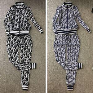 Para mujer diseñador de moda chándales Marca chándal Nueva llegada de la manera mujeres ocasionales de deportes del chándal de la chaqueta + pantalones conjuntos de tamaño M-XL 2023