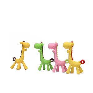 Bebé jirafa Vulli Mordedor de caucho natural Chupetes Chupete infantil juguetes para la dentición de la jirafa recién nacido Mordedor Chew Toy para regalo infantil