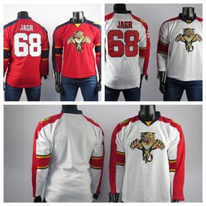 Florida Panthers jerseys el mejor jugador del hockey sobre hielo de los jerseys 68 Jagr calidad Jersey hombres de la alta bordado cosido