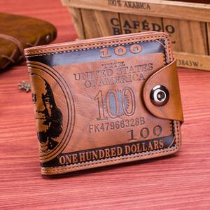 Identificación de cuero titular de la tarjeta monedero de los hombres de bolso Billetera delgada embrague de negocios Monederos