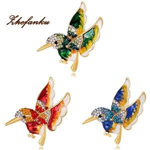 Renkli Sır Uçan Kuş Metal Kuş Broş iğneler Elbise Ceket Pin Badge Hediye Takı iğneler Düğme Hediye Toptan