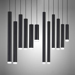 أضواء قلادة الإبداعية، مصباح المطبخ الحديث غرفة الطعام شريط عداد متجر الأنابيب قلادة الأنوار المطبخ ضوء، أسطوانة الألومنيوم